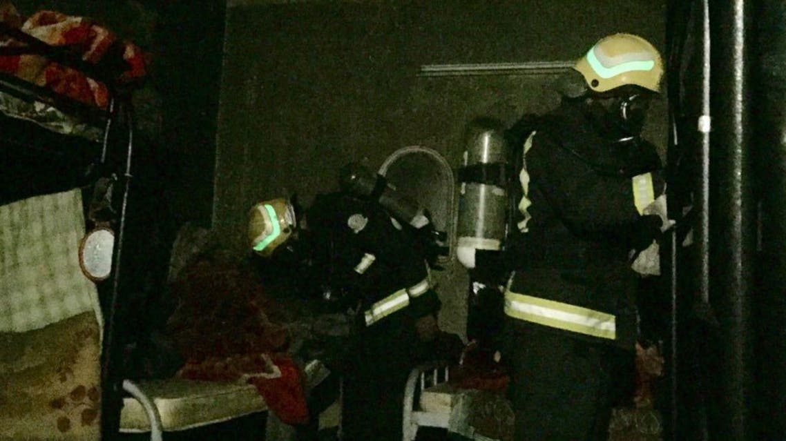 The fire had already spread wildly in the home because it had no windows, the Civil Defense said.
