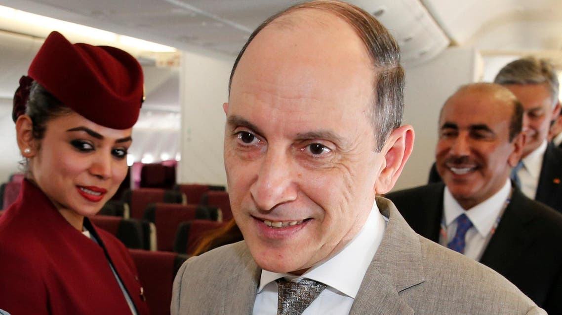 Qatar Airways CEO Akbar Al Baker during the 52nd Paris Air Show at Le Bourget airport near Paris, France, June 19, 2017. (Reuters)
