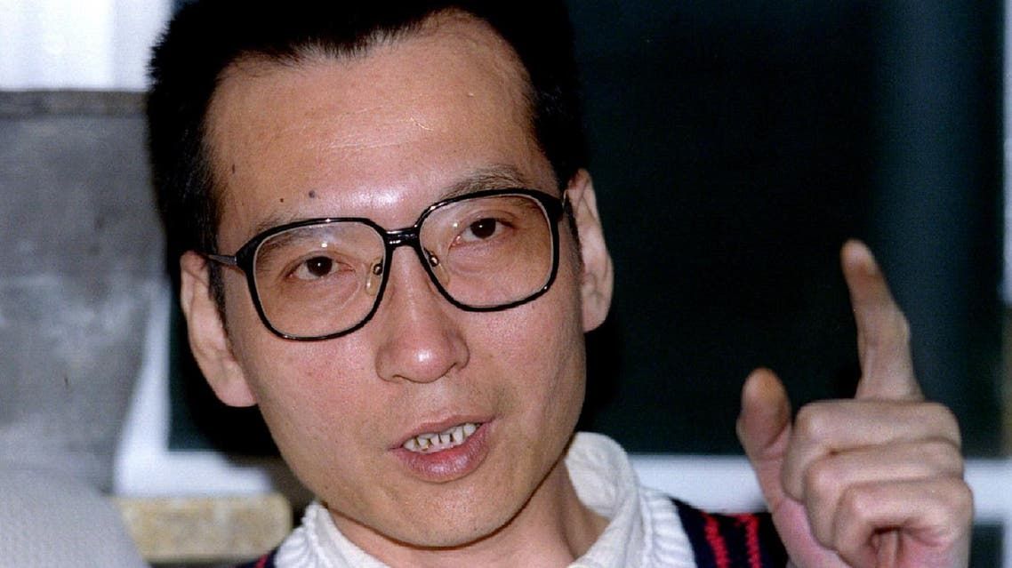 Prominent dissident intellectual Liu Xiaobo pictured during a March 5, 1995, interview. (Reuters)