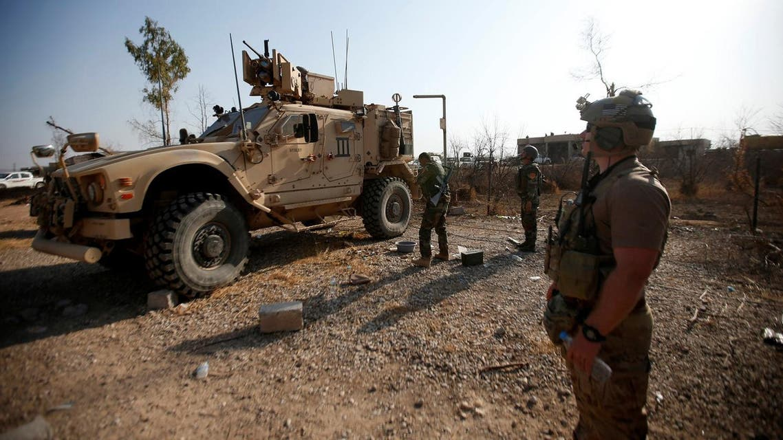 US military vehicles are seen in the town of Bashiqa, east of Mosul, during an operation to attack ISIS militants in Mosul, Iraq, November 7, 2016. (File photo: Reuters)