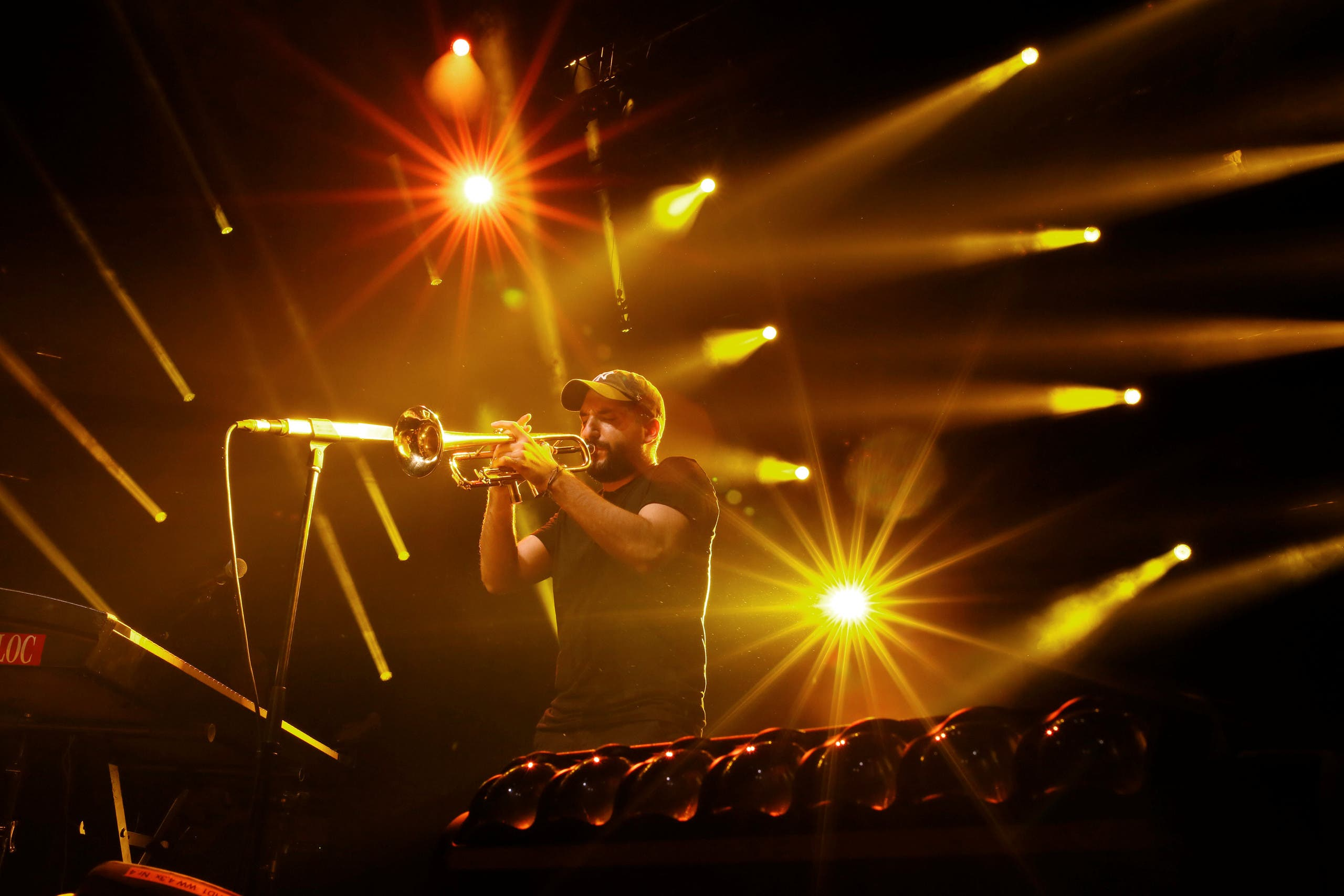 French-Lebanese trumpet player Ibrahim Maalouf performs during his first appearance at the 51st Montreux Jazz Festival in Montreux, Switzerland, July 13, 2017. reuters