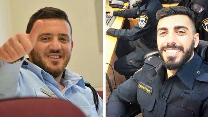 الشرطيان الإسرائيليان هايل ستاوي (30 عاما) وكميل شنان (22 عاما)