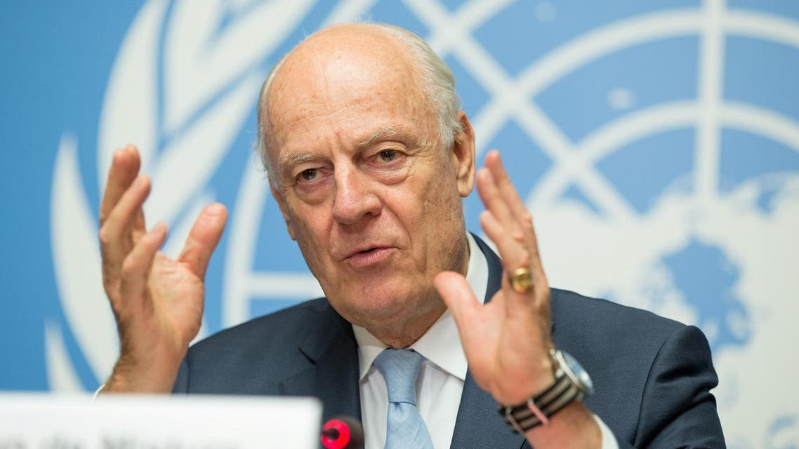 UN Special Envoy of the Secretary-General for Syria Staffan de Mistura speaks at a news conference at Palais des Nations in Geneva, Switzerland, July 14, 2017. (Reuters)
