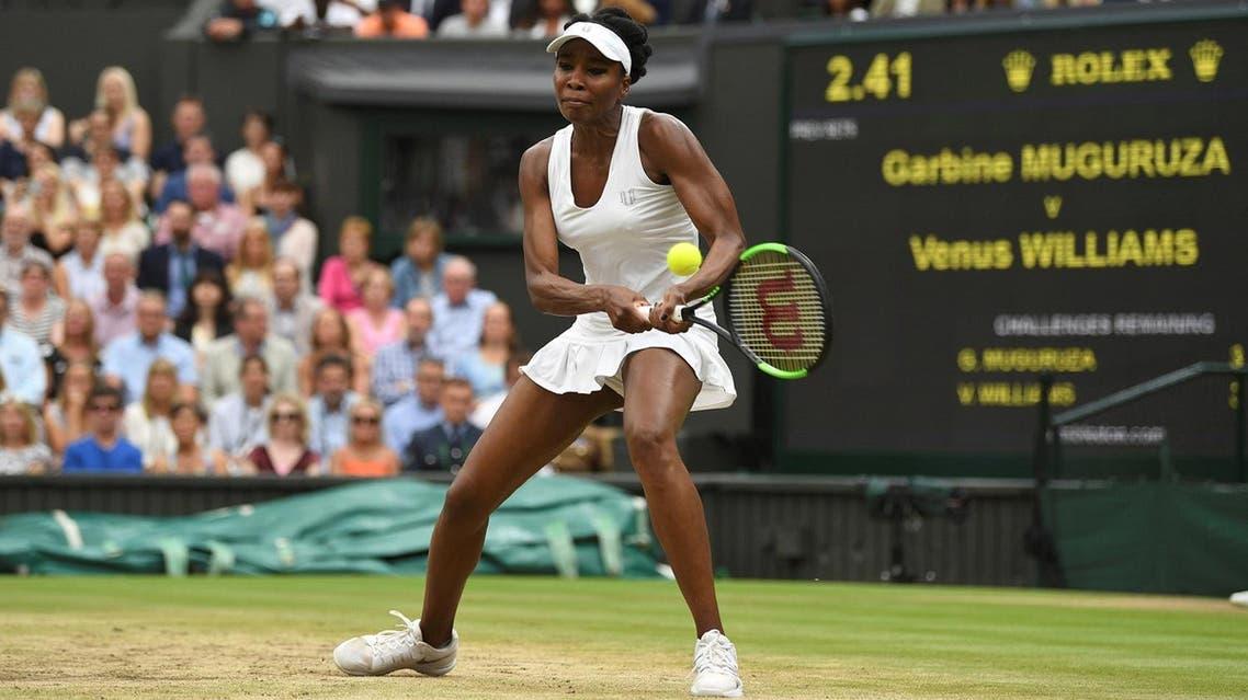 Venus Williams in action during the Wimbledon final against Spain's Garbine Muguruza. (Reuters)