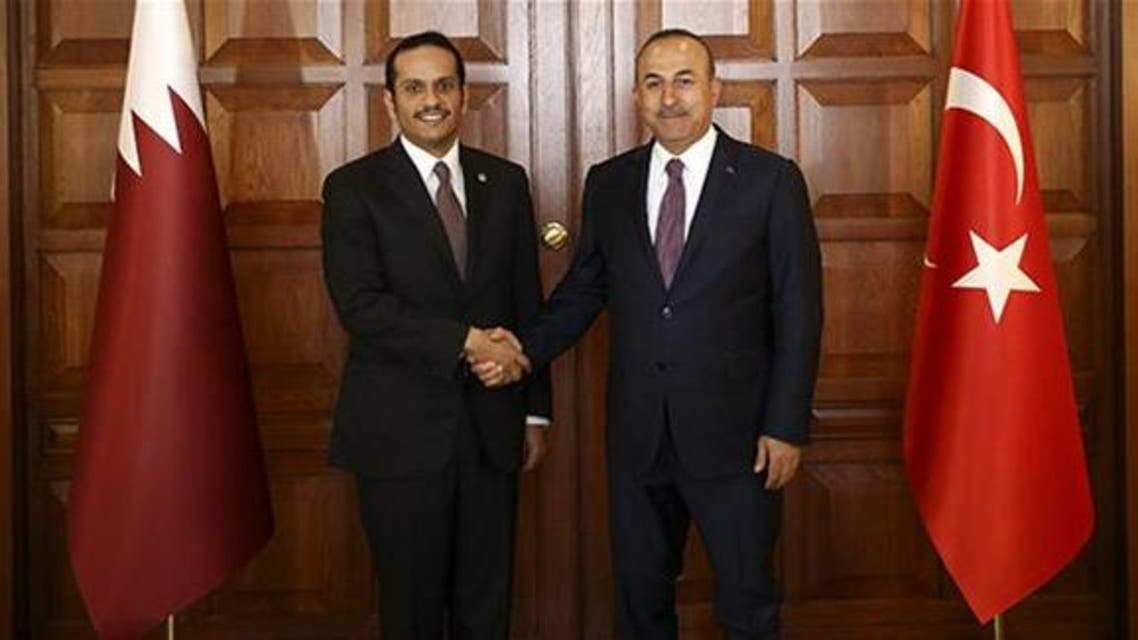 وزير الخارجية التركي ونظيره القطري