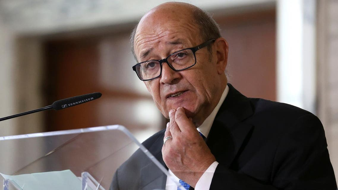 French Foreign Minister Jean-Yves Le Drian speaks during a meeting on migration in Rome, Italy July 6, 2017. (Reuters)