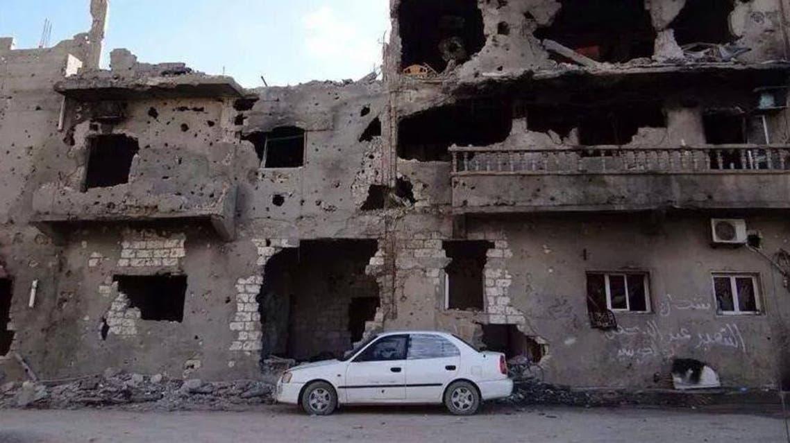 مشهد من بنغازي المدمرة