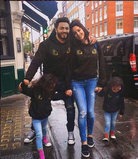 تامر حسني وعائلته