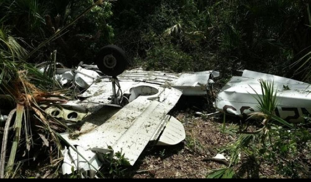 Investigators collected debris from the plane wreckage scattered across a marshy area near the Matanzas River in eastern Flagler County. (Saudi Gazette)