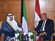 شكري لنظيره الكويتي:لا حل إلا بتنفيذ قطر مطالب الرباعية