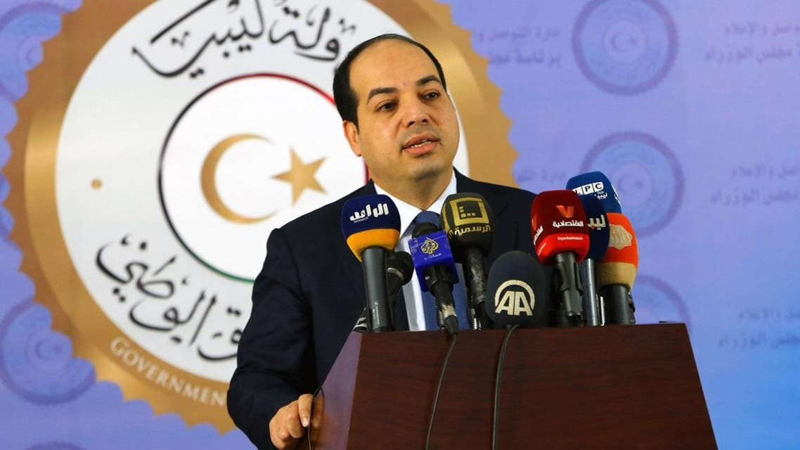 Libyan deputy prime minister of the Government of National Accord (GNA), Ahmed Maiteeq, speaks during a press conference in the capital Tripoli on January 13, 2017. (AFP)