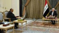 شكري يبحث مع الرئيس العراقي الأزمة القطرية