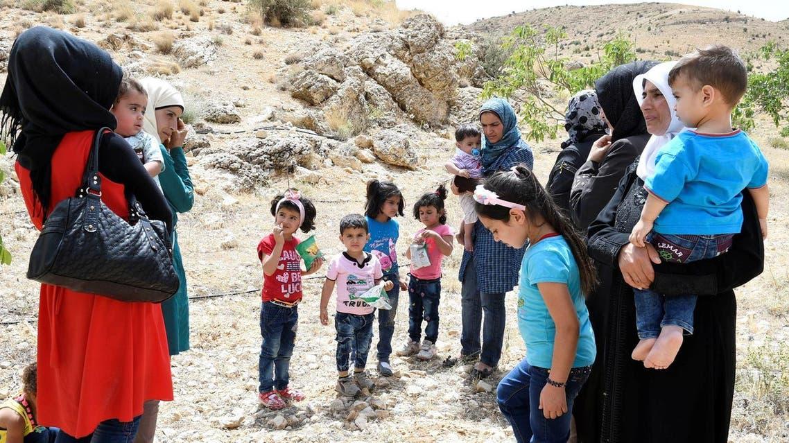 Syrian Refugees seen at LebanonÕs border region of Arsal, Lebanon July 12, 2017. REUTERS/Hassan Abdallah