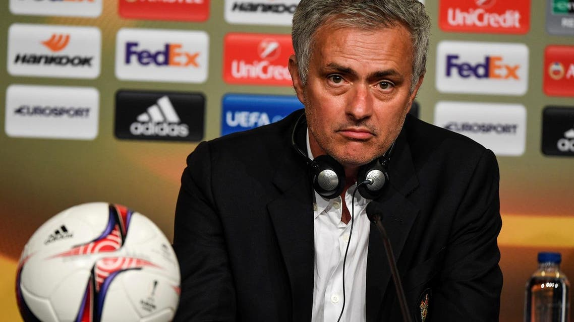 Football Soccer - Ajax Amsterdam v Manchester United - UEFA Europa League Final - Friends Arena, Solna, Stockholm, Sweden - 24/5/17 - Manchester United coach Jose Mourinho speaks during a news conference after winning the UEFA Europa League final match. TT News Agency/Pontus Lundahl/via REUTERS ATTENTION EDITORS - THIS IMAGE WAS PROVIDED BY A THIRD PARTY. FOR EDITORIAL USE ONLY. SWEDEN OUT. NO COMMERCIAL OR EDITORIAL SALES IN SWEDEN. NO COMMERCIAL SALES.