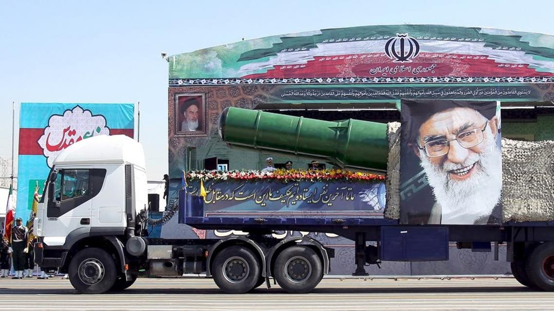 A military truck carrying a missile and a picture of Iran's Supreme Leader Ayatollah Ali Khamenei in Tehran. (File photo: Reuters)