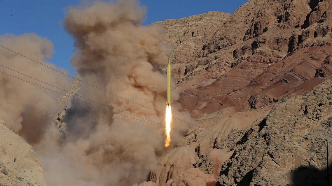 A ballistic missile is launched and tested in an undisclosed location, Iran, March 9, 2016. (Reuters)