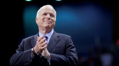 """""""سرطان الدماغ"""" يفتك بجون ماكين.. والسيناتور يهلل للحياة"""