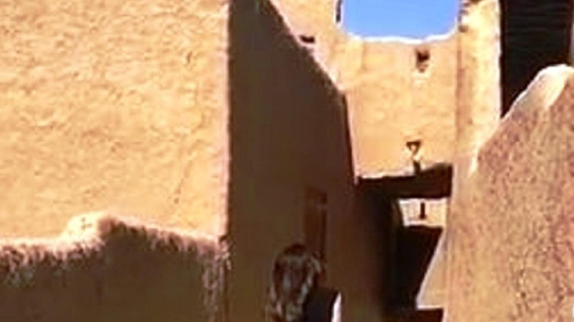 Video of a young woman appeared online showing her walking in a historic village north of the capital, Riyadh. (Social media)