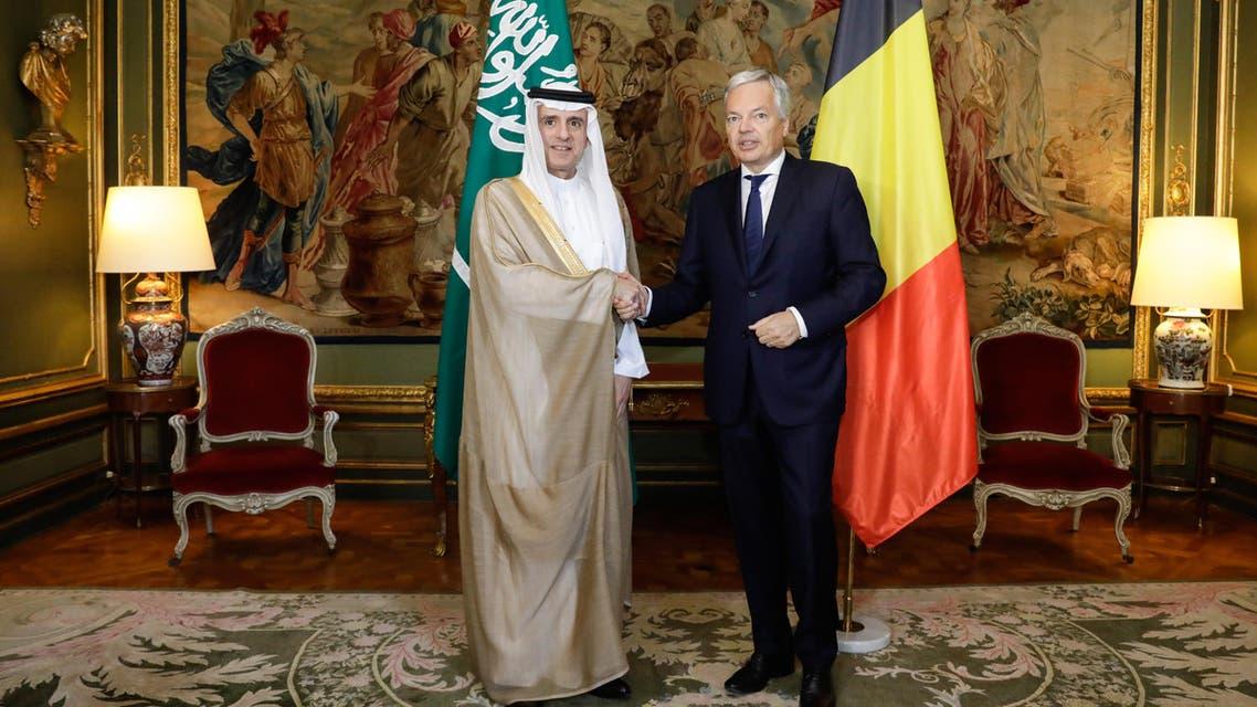 وزير الخارجية البلجيكي وزير الخارجية السعودي