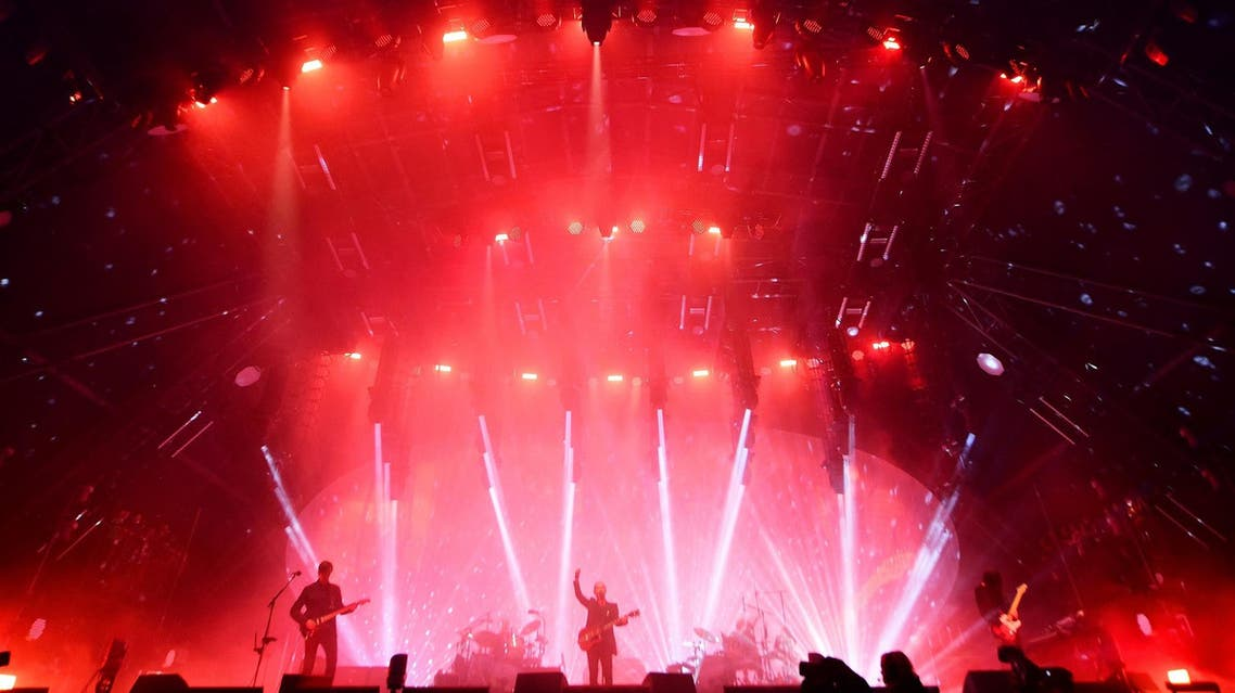 Radiohead performs on the Pyramid Stage at Worthy Farm in Somerset during the Glastonbury Festival in Britain, June 23, 2017. (Reuters)