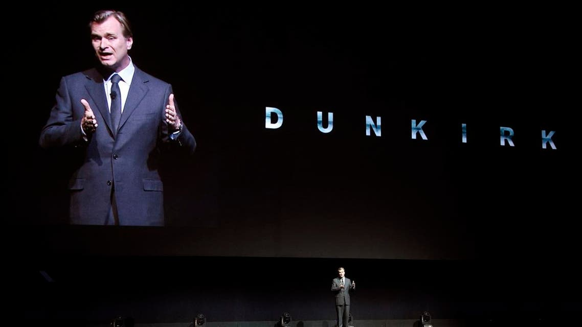 Director Christopher Nolan discusses his new film Dunkirk onstage during the Warner Bros. Pictures presentation at CinemaCon at Caesars Palace. (AP)