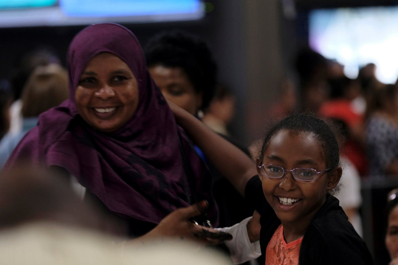 International passengers arrive at Washington Dulles International Airport in Dulles, Virginia, US, July 14, 2017. (Reuters)