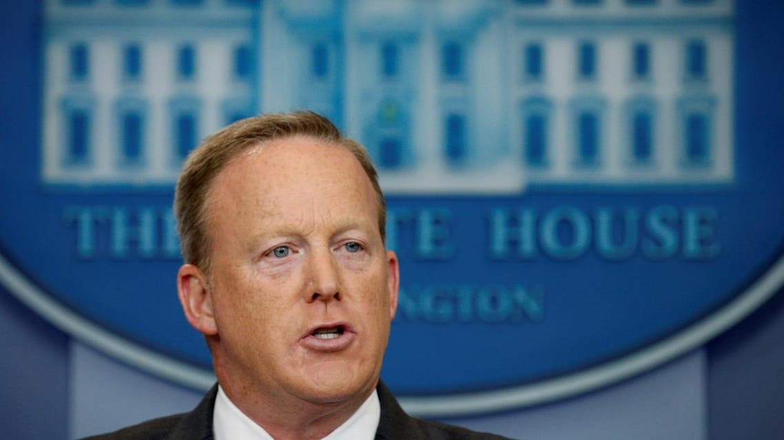 White House spokesman Sean Spicer holds a press briefing at the White House in Washington, U.S., July 17, 2017. REUTERS