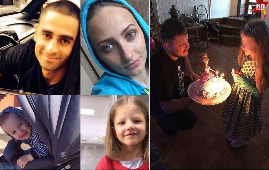 زوجها الأول مع ابنته منها، و4 صور لها ولزوجها الجديد وابنتيها