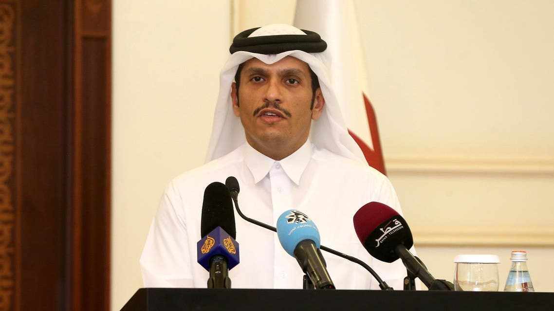 Qatari Foreign Minister Sheikh Mohammed bin Abdulrahman Al-Thani during a press conference in Doha, on July 11, 2017. (AFP)