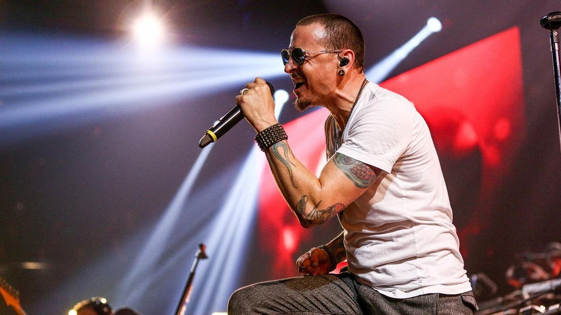 Chester Bennington of Linkin Park performs on stage at the iHeartRadio Album Release Party presented by State Farm at the iHeartRadio Theater Los Angeles on May 22, 2017. (AFP)