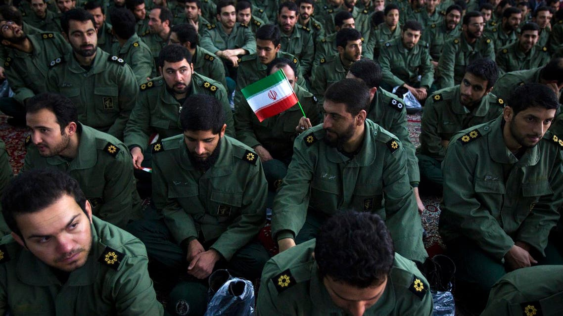 Members of the revolutionary guard attend the anniversary ceremony of Iran's Islamic Revolution near Tehran on February 1, 2012. (Reuters)