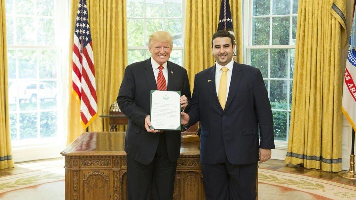 الأمير خالد بن سلمان مع الرئيس الأميركي دونالد ترمب
