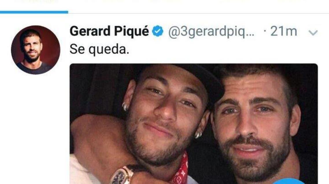 پیکه: نیمار در بارسلونا ماندنی است
