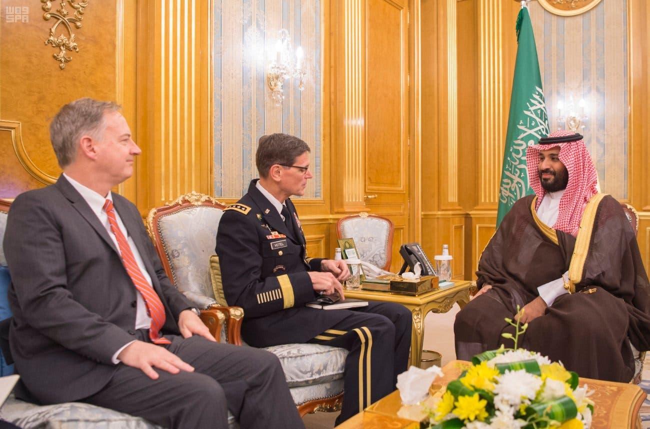 Saudi crown prince meets with US CentCom commander Joseph Votel
