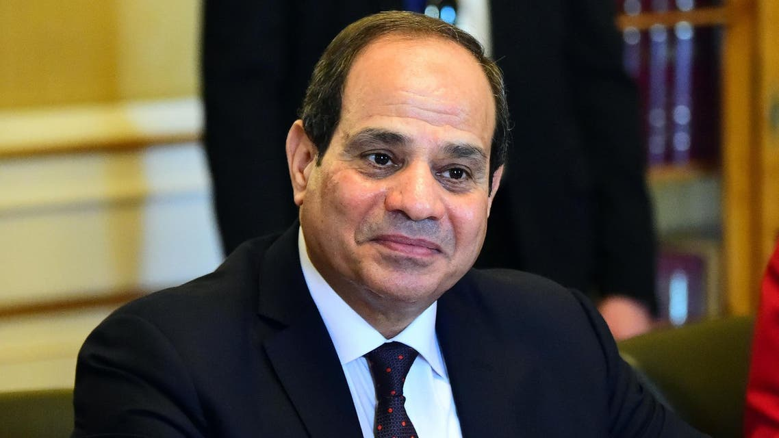 """Could anyone have imagined 10 months ago that there would be $35 billion,"" Sisi said on Monday. (AFP)"