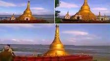 شؤم في ميانمار بعد ابتلاع نهر لأحد أشهر معابدها البوذية