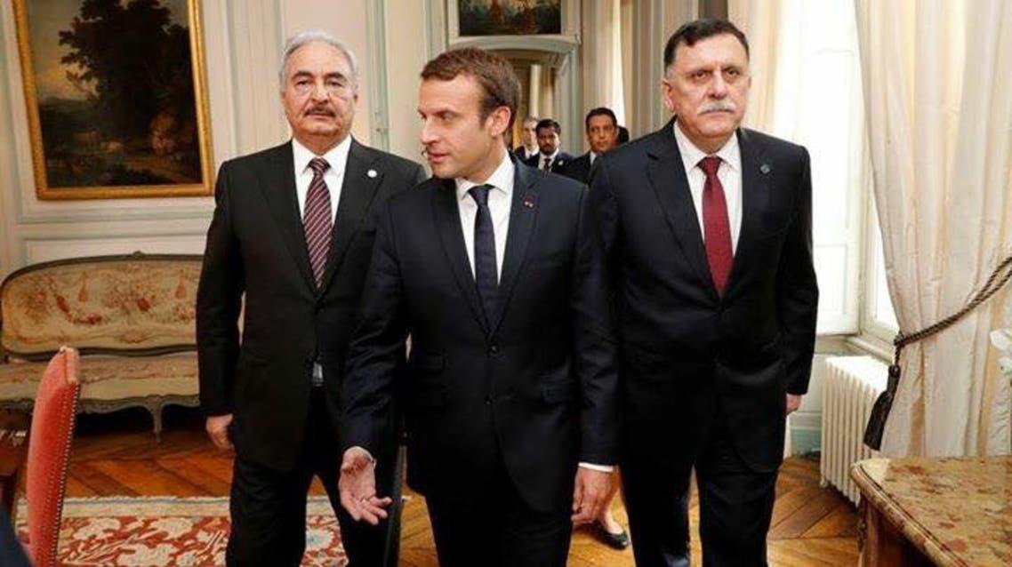 لقاء حفتر السراج ماكرون فرنسا