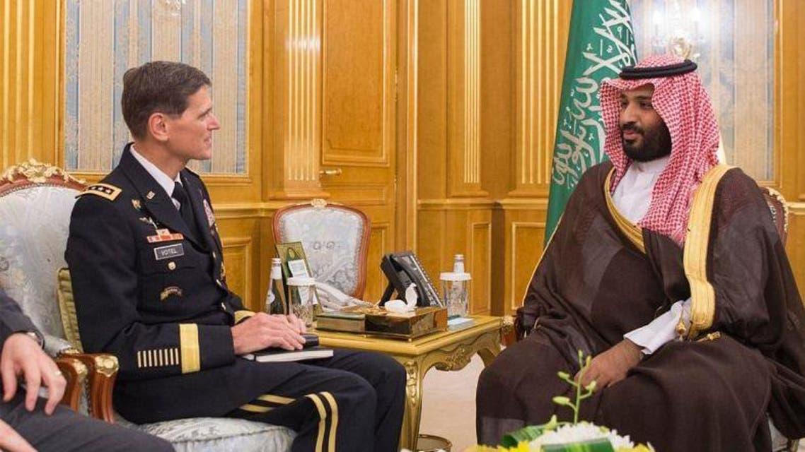 محمد بن سلمان يبحث التعاون العسكري مع الجيش الأميركي