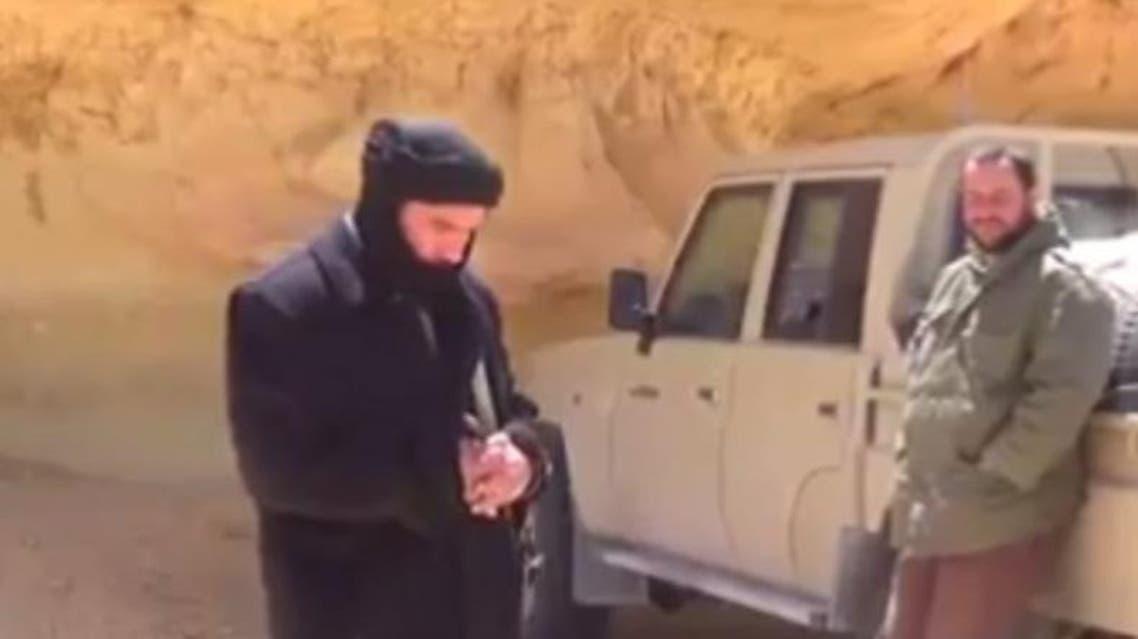 الإرهابي بالمختار مع الساعدي النوفلي في أجدابيا