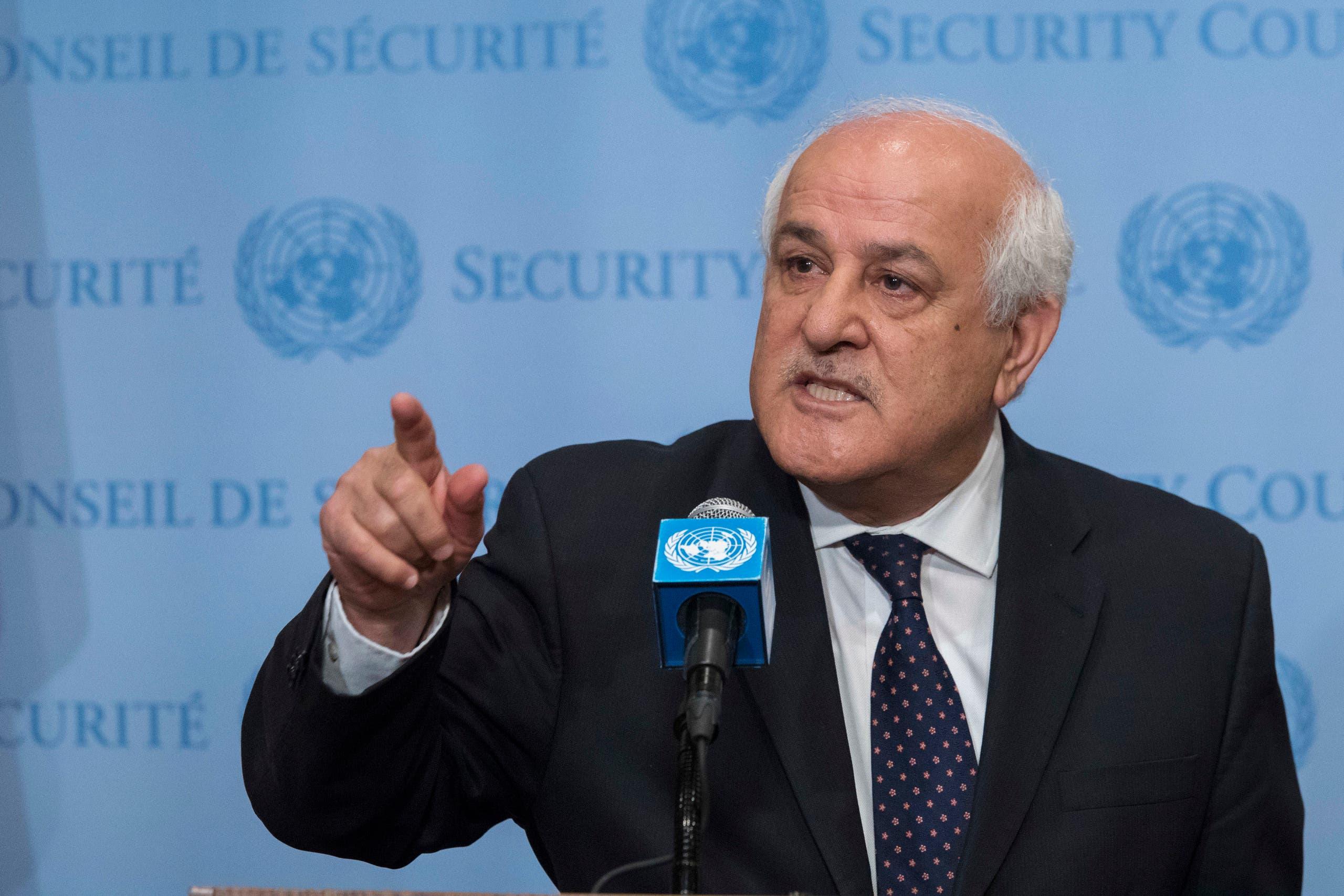 المراقب الفلسطيني في الأمم المتحدة رياض منصور
