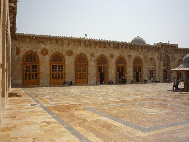 باحة الجامع الأموي في حلب - الصورة عن العربية نت