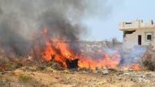 بالصور.. الجيش يدمر 76 مخبأ للإرهابيين في سيناء