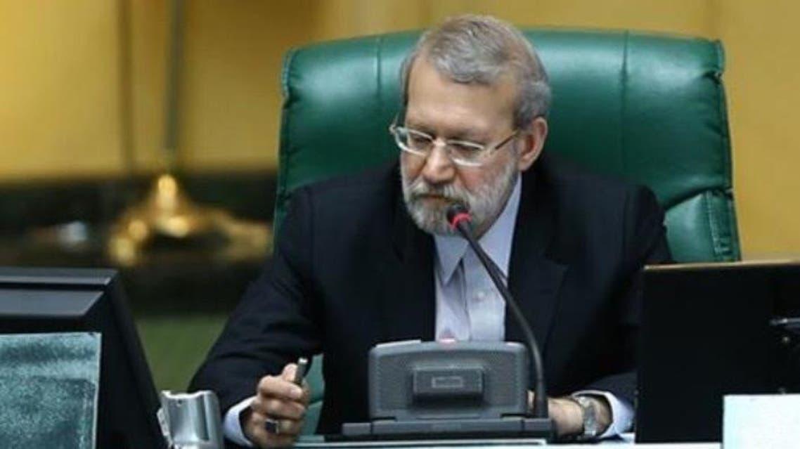 رئيس مجلس الشورى ( البرلمان ) الإيراني علي لاريجاني