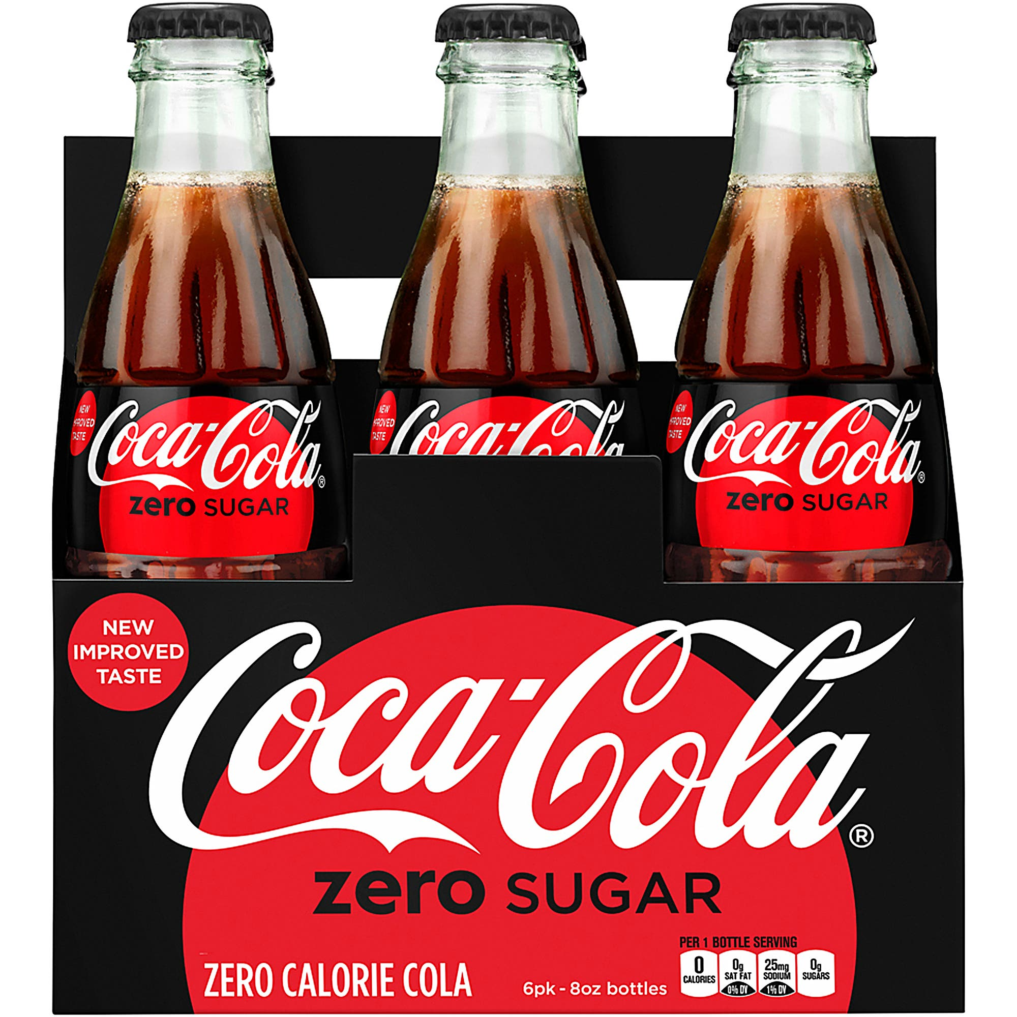 This photo provided by Coca-Cola shows a six-pack of bottled Coca-Cola Zero Sugar. 9AP)
