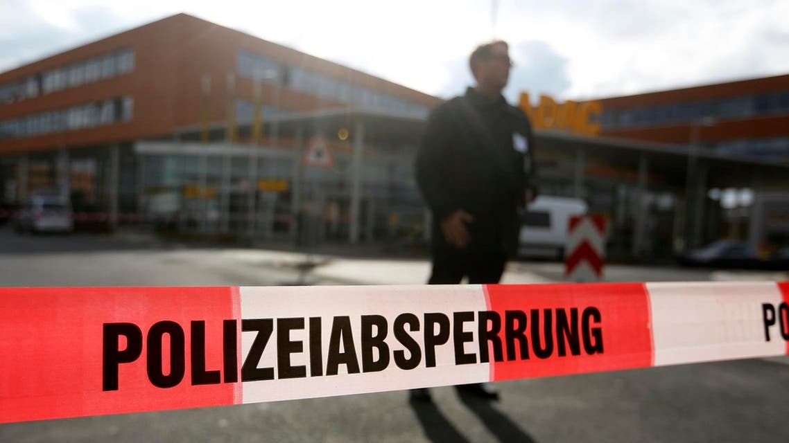 A barrier tape of the police is pictured in front of an office building in Germany. (File photo: Reuters)