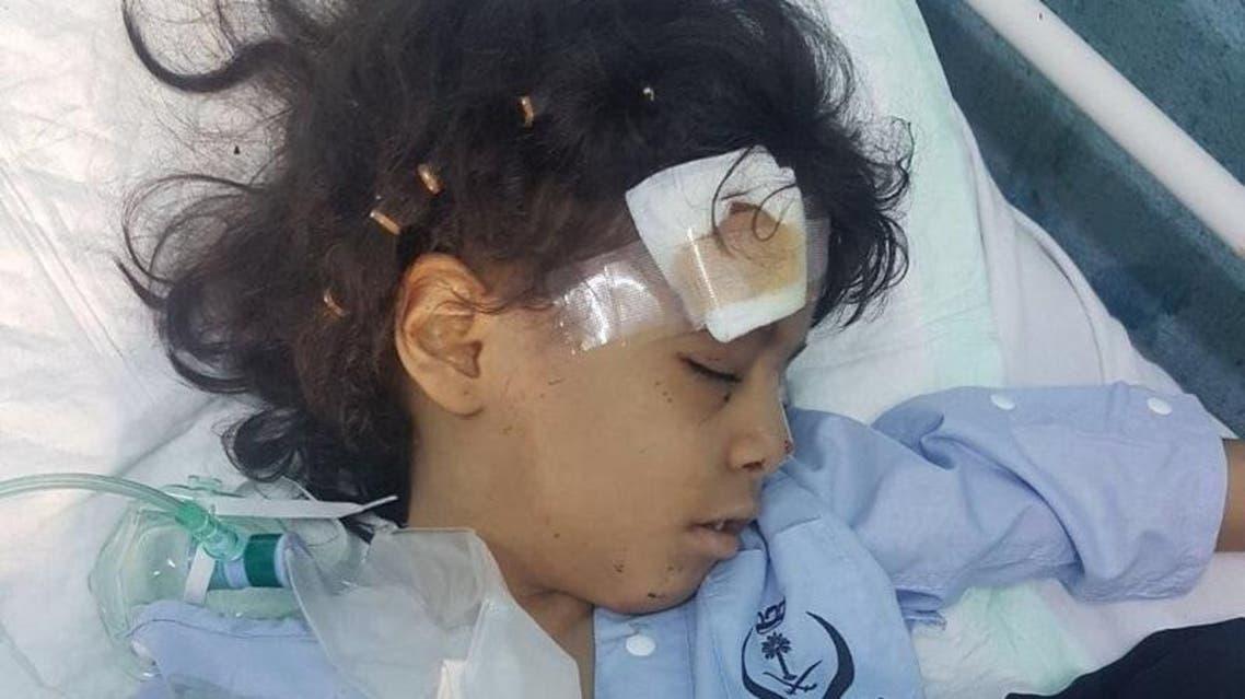 إصابة سيدة يمنية وطفلتين سعوديتين بمقذوف حوثي
