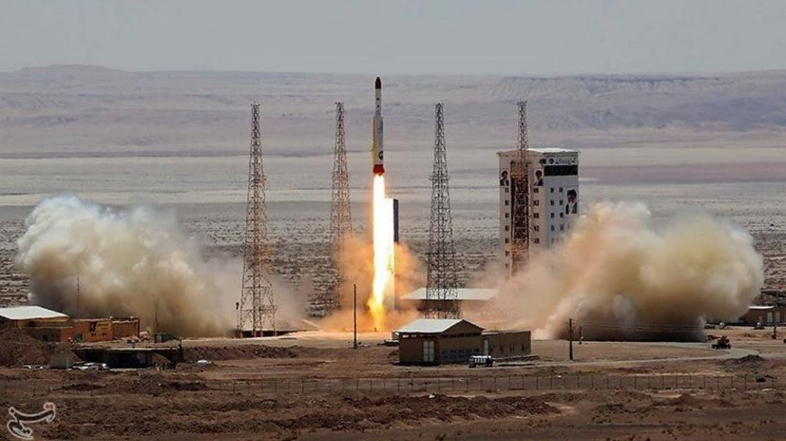 Simorgh rocket is launched and tested at the Imam Khomeini Space Centre, Iran, in this handout photo released by Tasnim News Agency on July 27, 2017. (Reuters)