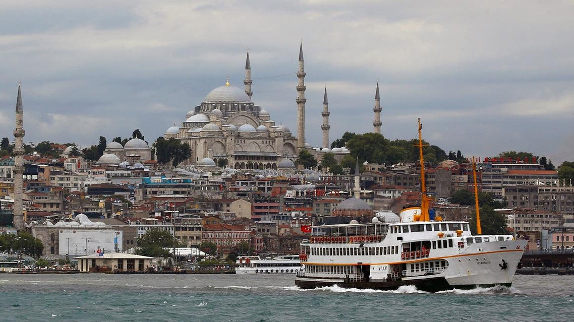 A passenger ferry, with the Suleymaniye mosque in the background, sets sail in the Bosphorus in Istanbul, Turkey, on July 18, 2017. (Reuters)