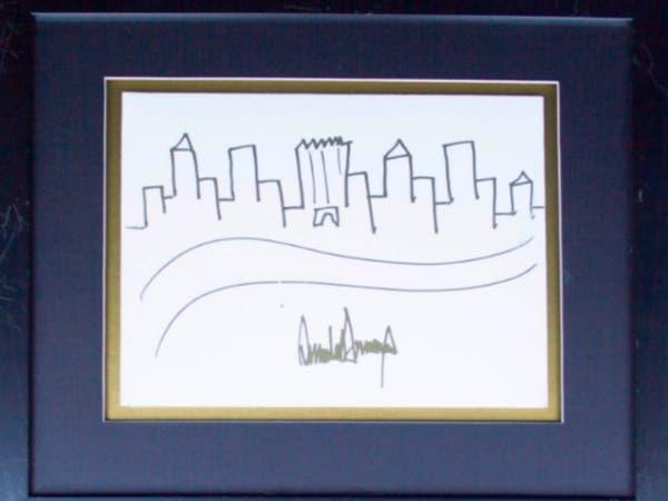هذه اللوحة رسمها ترمب.. ومعروضة للبيع في مزاد علني!