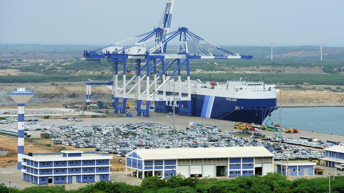 Sri Lanka's deep sea harbour port facilities at Hambantota. (File photo AFP)